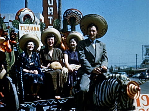 1945 - welcome to southern california - 22 of 23 - parade stock videos & royalty-free footage