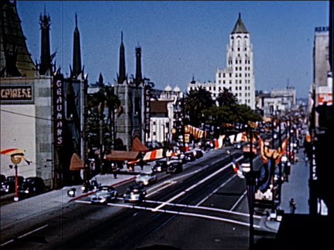 vidéos et rushes de 1945 - welcome to southern california - 5 of 23 - hollywood boulevard