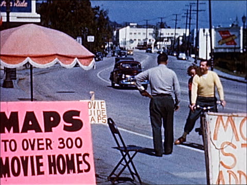 stockvideo's en b-roll-footage met 1945 - welcome to southern california - 9 of 23 - beverly hills californië