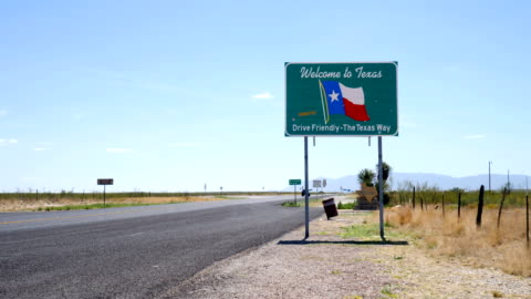 welcome to texas sign - welcome sign stock videos & royalty-free footage