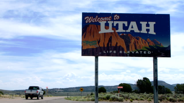welcome to utah sign - utah stock videos & royalty-free footage