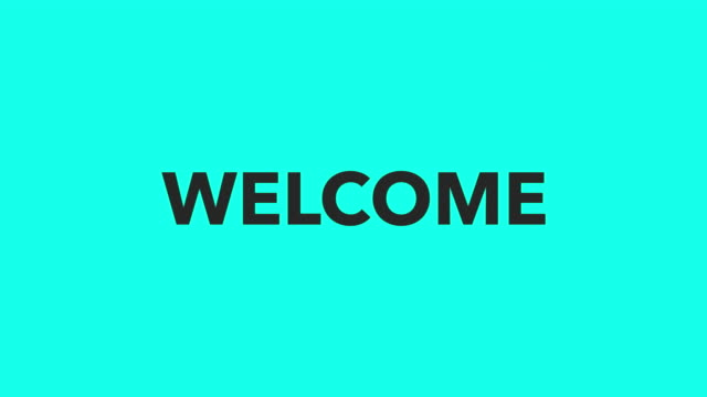 welcome - vector animate - welcome sign stock videos & royalty-free footage