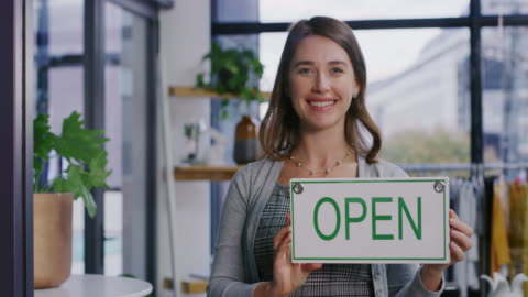 welcoming the start of a new business day with a smile - day 1 stock videos & royalty-free footage
