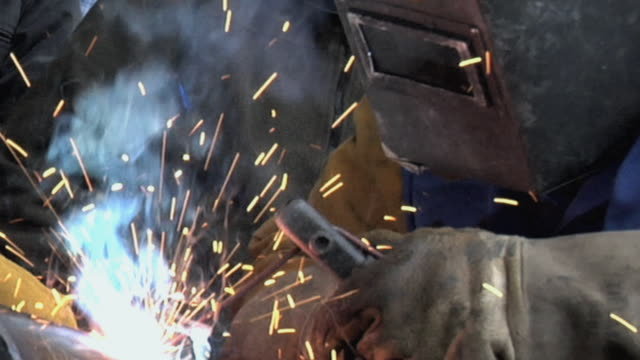 CU Welder at work / Chico, California, USA