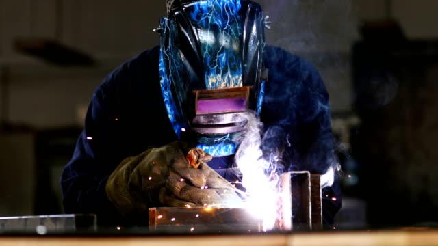 welder at work. - metal stock videos & royalty-free footage