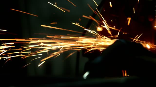 welder in his workshop - welder stock videos & royalty-free footage
