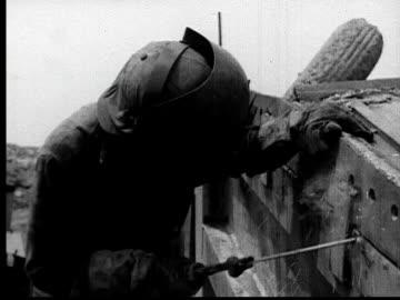1935 ms welder in protective mask welding - metal industry stock videos & royalty-free footage