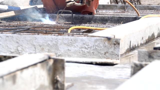 welder in the construction site