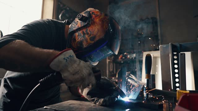 welder in the workshop - craft stock videos & royalty-free footage