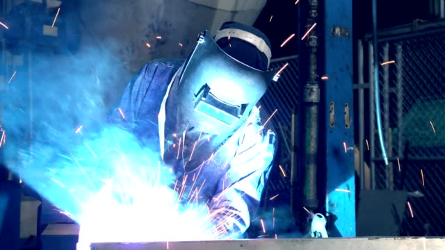 welder is welding repair automotive part - welding stock videos & royalty-free footage