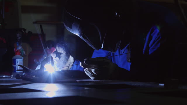 TIG Welder Lighting Up Workshop and Smoking