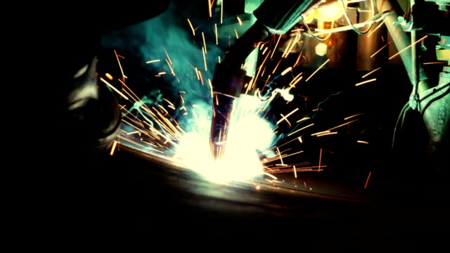 welder robot - welding stock videos & royalty-free footage