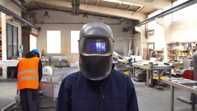 welder worker woman - artisan stock videos and b-roll footage