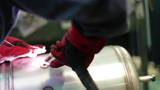welder working with soldering iron - silvestre stock videos & royalty-free footage