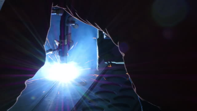 welding close-up - metal worker stock videos and b-roll footage