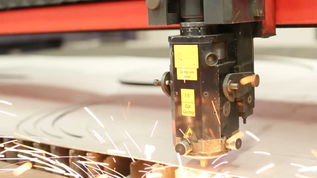 Welding CNC laser machine in industry