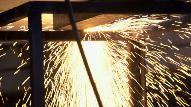 welding in backlight - metal industry stock videos and b-roll footage