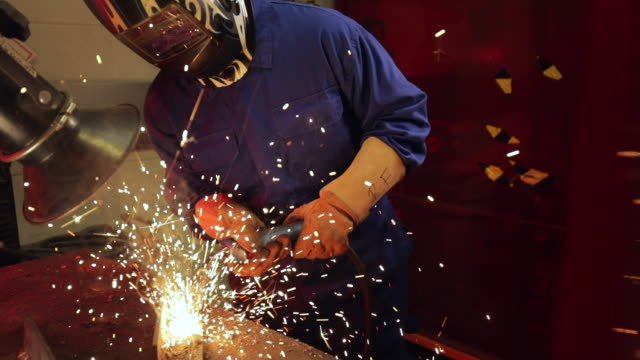 welding in the engineering workshop - welding stock videos & royalty-free footage