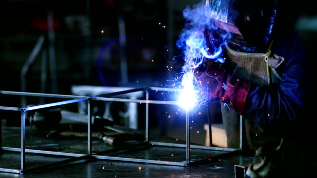 welding process. - craftsperson stock videos & royalty-free footage