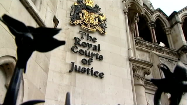 disabled group lose their appeal against 'bedroom tax'; england: london: high court: ext disabled protesters, against the government's bedroom tax,... - court stock videos & royalty-free footage