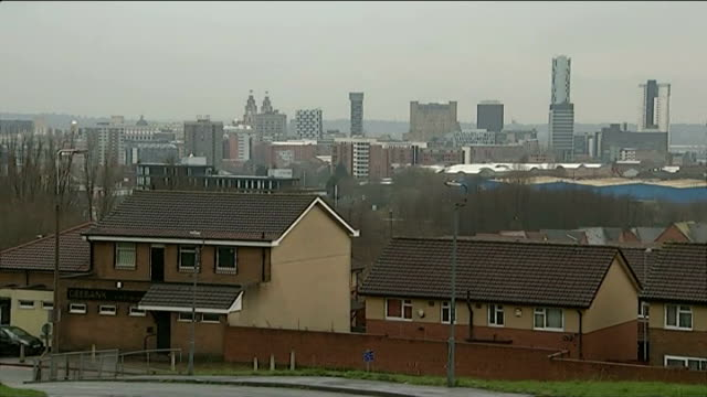 legal cap on welfare ext housing skyline 'job centre plus' sign browne along from job centre - social services stock videos & royalty-free footage