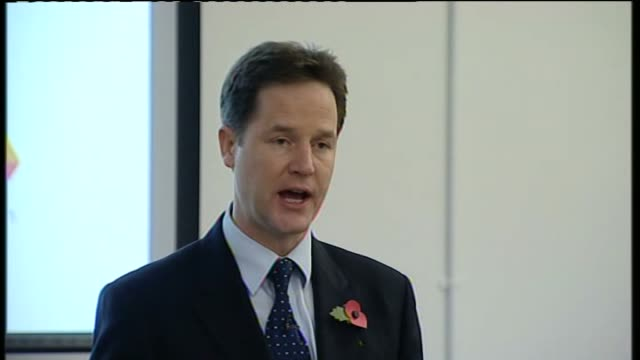 Nick Clegg and Iain Duncan Smith speeches Clegg speech SOT So is it any surprise that some people choose not to and end up living their life off...