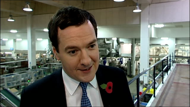 Universal Credit system criticised by Public Accounts Committee Suffolk Lowestoft Bird's Eye Factory INT George Osborne MP interview SOT this is a...