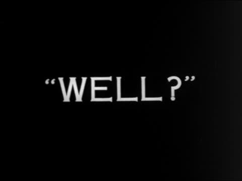 """vidéos et rushes de b/w 1924 slate: """"well?"""" / feature - 1924"""