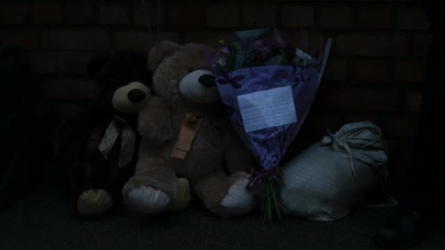 well wishers leave flowers outside the home of former eastenders actress sian blake on january 6 2016 in london england the former eastenders actress... - イーストエンダーズ点の映像素材/bロール