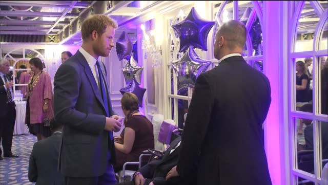 wellchild awards 2015 attended by prince harry ****some london park lane hotel int prince harry at the wellchild awards meeting meriel park who... - brain damage stock videos & royalty-free footage