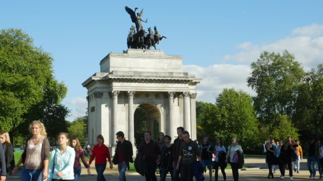 Wellington Arch i London nära Hyde Park (UHD)