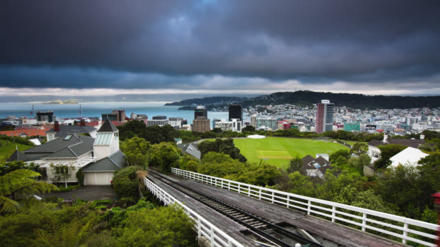 time lapse: wellington new zealand - botanical garden stock videos & royalty-free footage