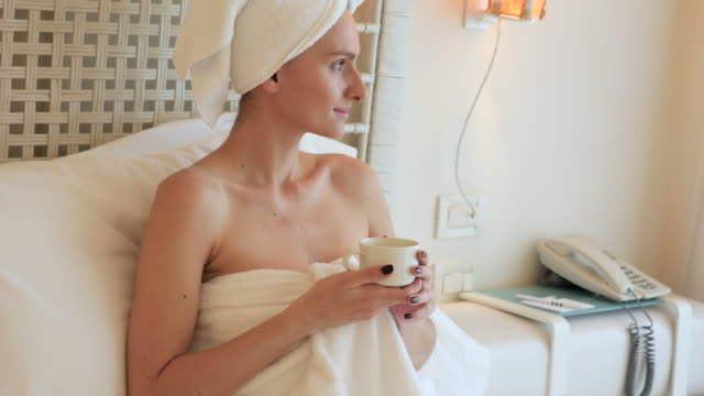wellness day - wrapped in a towel stock videos & royalty-free footage