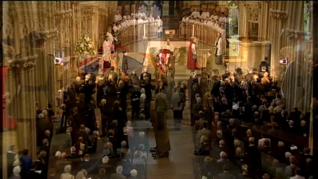coffin carried down aisle unidentied minister addressing funeral service sot - wells cathedral stock videos & royalty-free footage