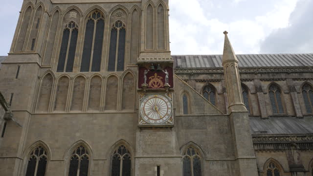 wells cathedral, somerset, uk - audio available stock videos & royalty-free footage
