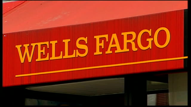 wells fargo bank and sign for loans - wells fargo stock videos and b-roll footage