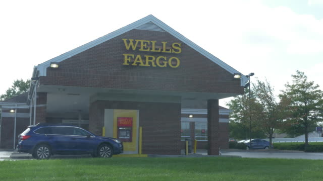 wells fargo in small town christiansburg va usa - wells fargo stock videos and b-roll footage