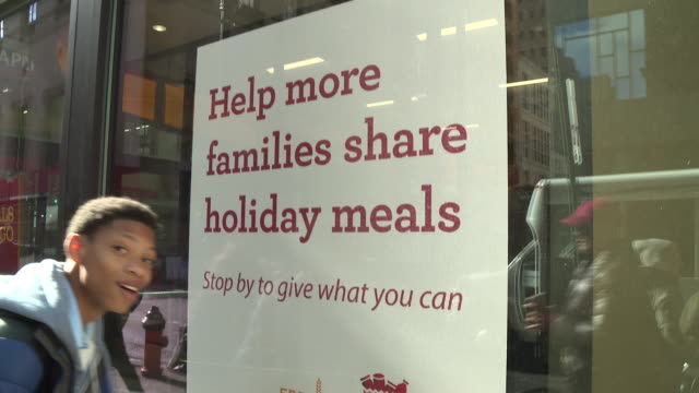 wells fargo launches second annual food bank program to fight hunger during the holidays on november 16 2018 in philadelphia pennsylvania - wells fargo stock videos and b-roll footage
