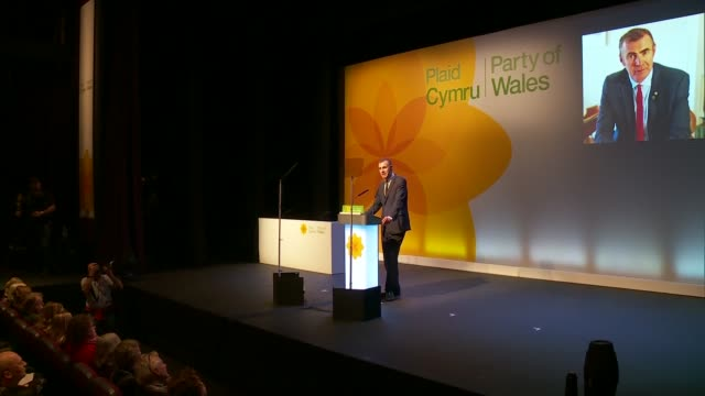 vídeos y material grabado en eventos de stock de welsh independence must be on the table after brexit plaid cymru leader adam price tells party conference wales llangollen plaid cymru annual... - channel 4 news