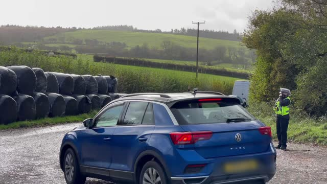 welsh police pull over motorists at a police checkpoint on the a477 between carmarthenshire and pembrokeshire during wales' 'firebreak' lockdown... - law stock videos & royalty-free footage