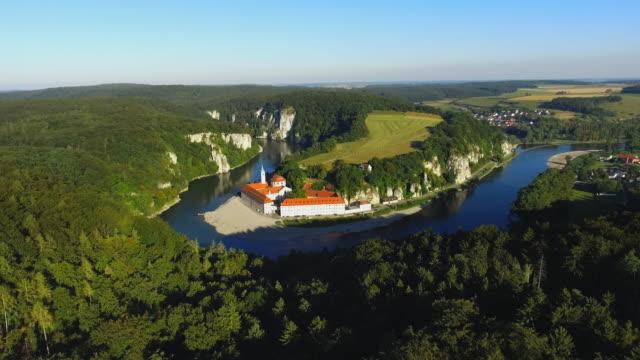 Weltenburg Abbey en el Danubio en baviera