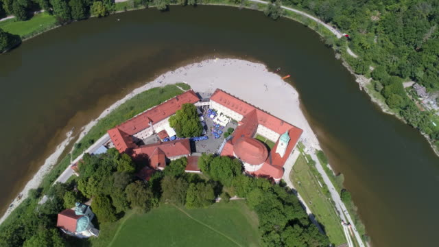 weltenburg abbey on the danube in bavaria - abbey stock videos & royalty-free footage