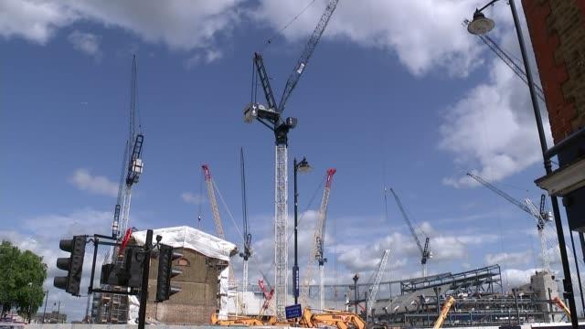 Wembley Stadium becomes temporary home to Tottenham Hotspur ENGLAND London Wembley Stadium EXT People arriving at Wembley Stadium for Tottenham...
