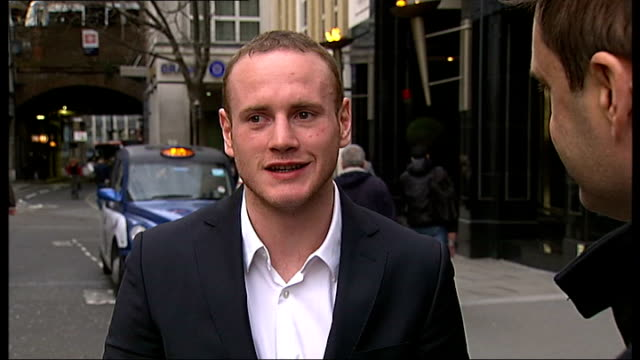 Wembley Stadium confirmed as venue for Carl Froch v George Groves rematch London George Groves setup shot along with reporter / interview SOT The...