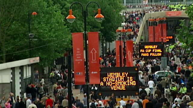 Harrow Council public transport plea May 2007 ENGLAND London Wembley Stadium EXT Chelse and Manchester United fans arriving at Wembley Stadium for FA...