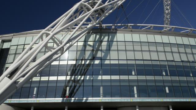 wembley stadium - wembley stadium stock videos & royalty-free footage