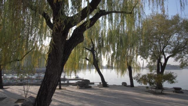 wenchangge on kunming lake, the summer palace, unesco world heritage site, beijing, people's republic of china, asia - summer palace beijing stock videos & royalty-free footage