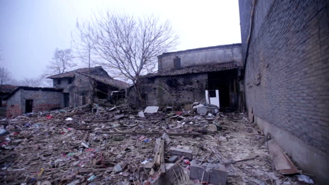 fuzhou, china - february 29, 2017: wenchangli is the old town of fuzhou city, now is under reconstruction. - imperfection stock videos & royalty-free footage