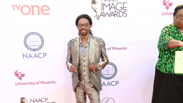 stockvideo's en b-roll-footage met wendell james at the 46th annual naacp image awards arrivals at pasadena civic auditorium on february 06 2015 in pasadena california - pasadena civic auditorium