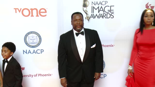 stockvideo's en b-roll-footage met wendell pierce at the 46th annual naacp image awards arrivals at pasadena civic auditorium on february 06 2015 in pasadena california - pasadena civic auditorium